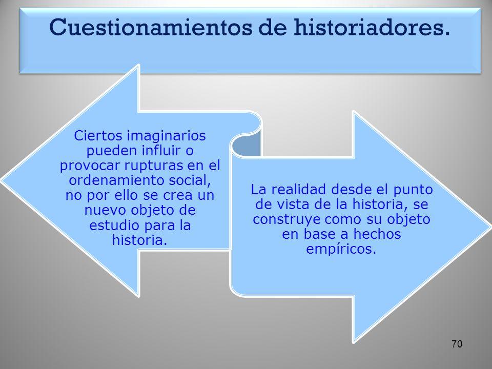 Cuestionamientos de historiadores.