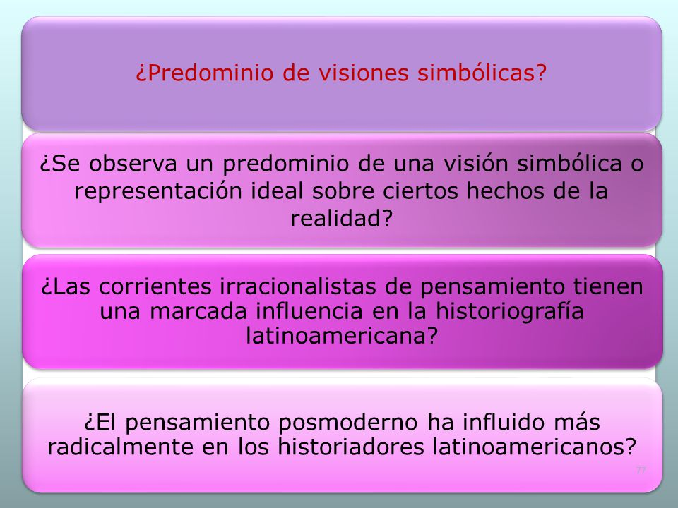 ¿Predominio de visiones simbólicas