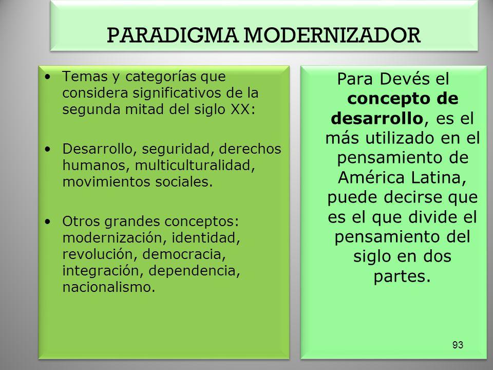 PARADIGMA MODERNIZADOR