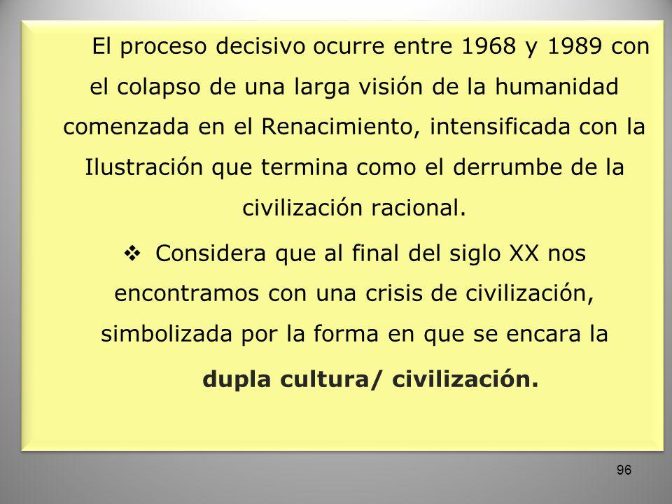 dupla cultura/ civilización.