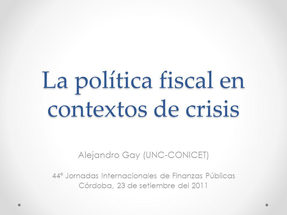 La política fiscal en contextos de crisis