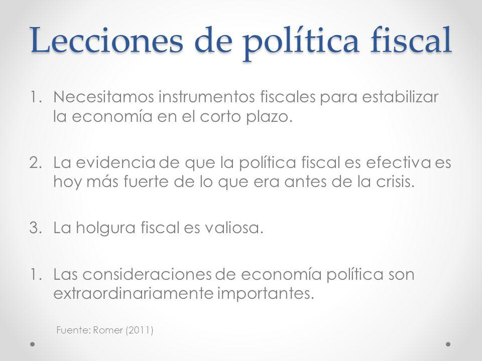 Lecciones de política fiscal