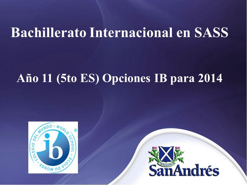Bachillerato Internacional en SASS
