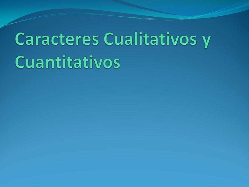 Caracteres Cualitativos y Cuantitativos