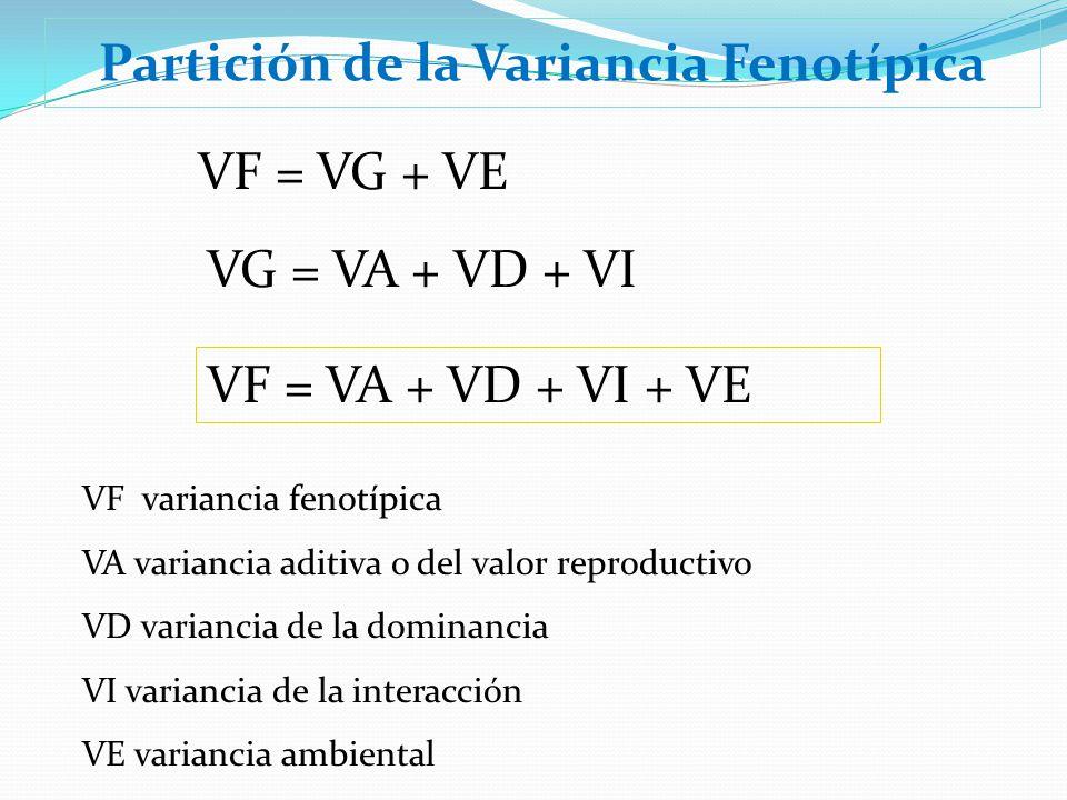 Partición de la Variancia Fenotípica