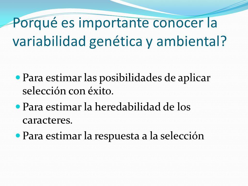Porqué es importante conocer la variabilidad genética y ambiental