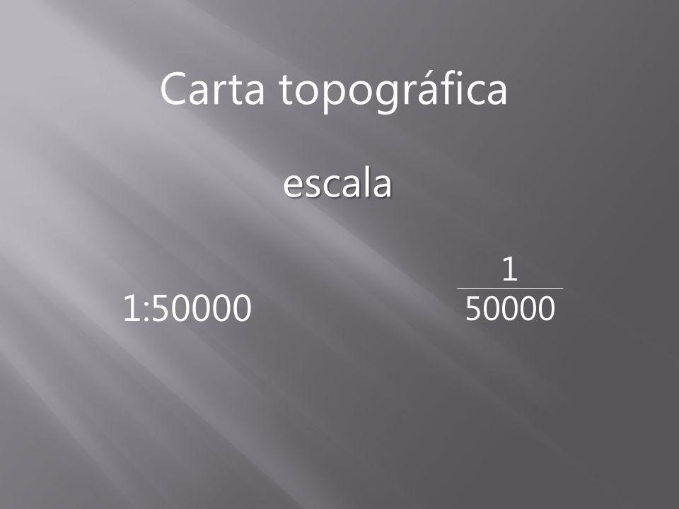 Carta topográfica escala 1 50000 1:50000