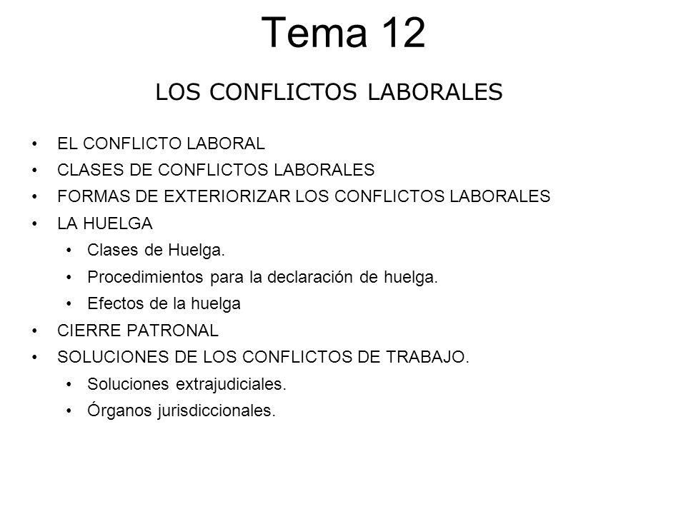 LOS CONFLICTOS LABORALES