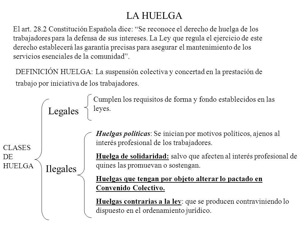 LA HUELGA Legales Ilegales
