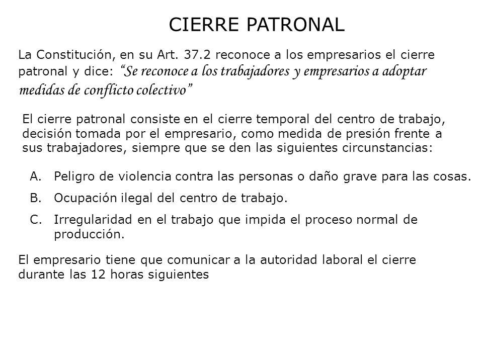 CIERRE PATRONAL