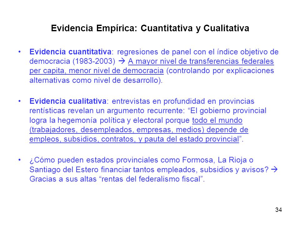 Evidencia Empírica: Cuantitativa y Cualitativa