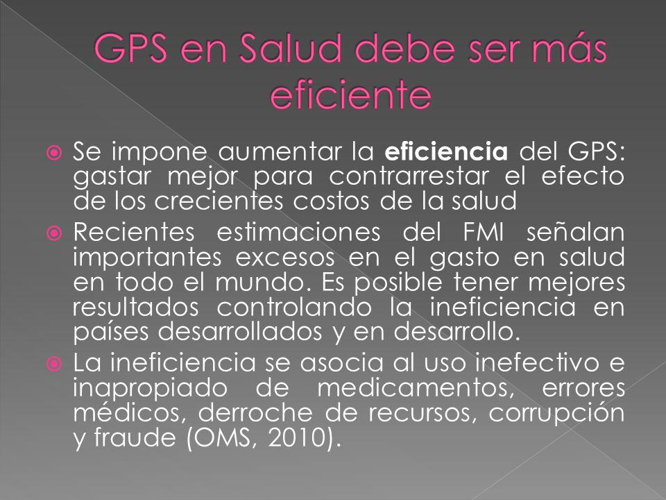 GPS en Salud debe ser más eficiente