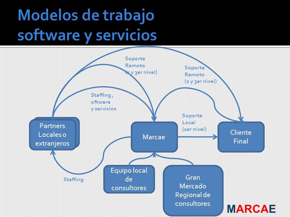 Modelos de trabajo software y servicios