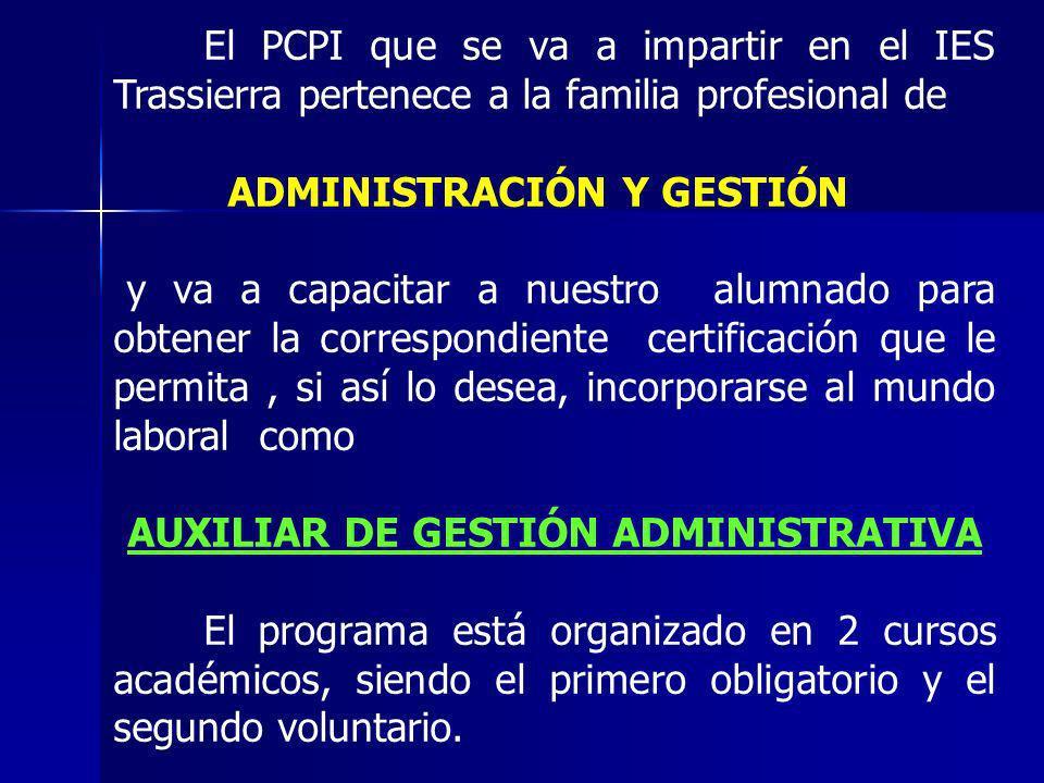 AUXILIAR DE GESTIÓN ADMINISTRATIVA