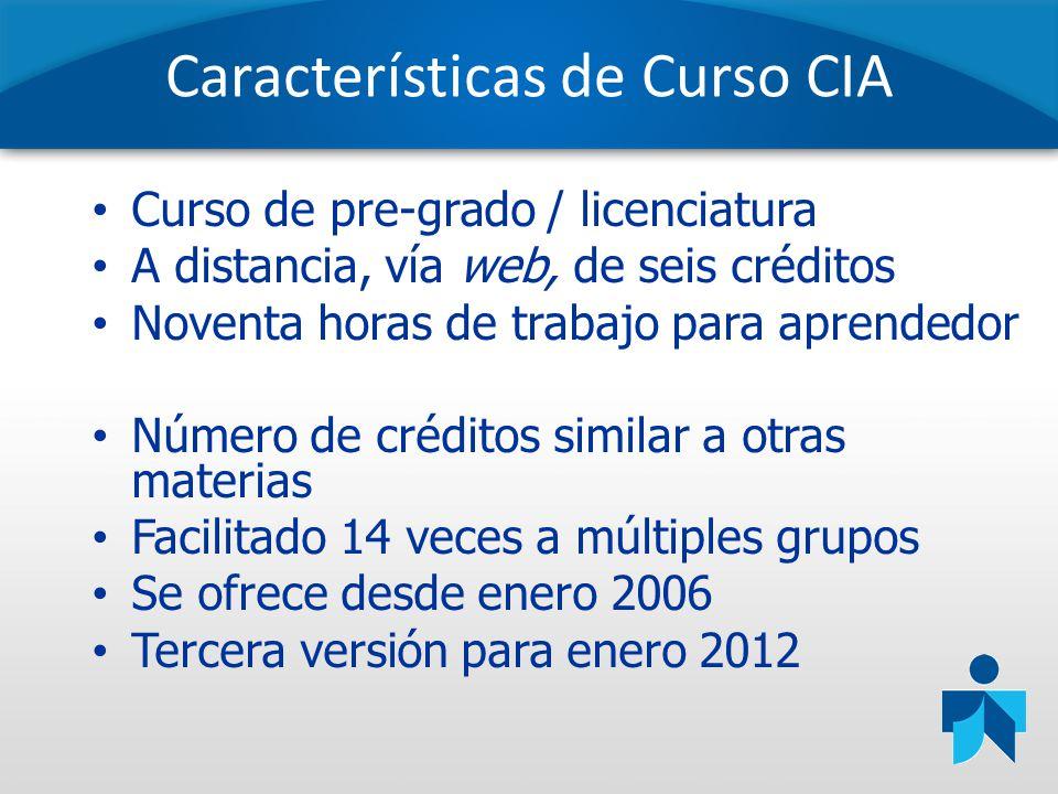 Características de Curso CIA