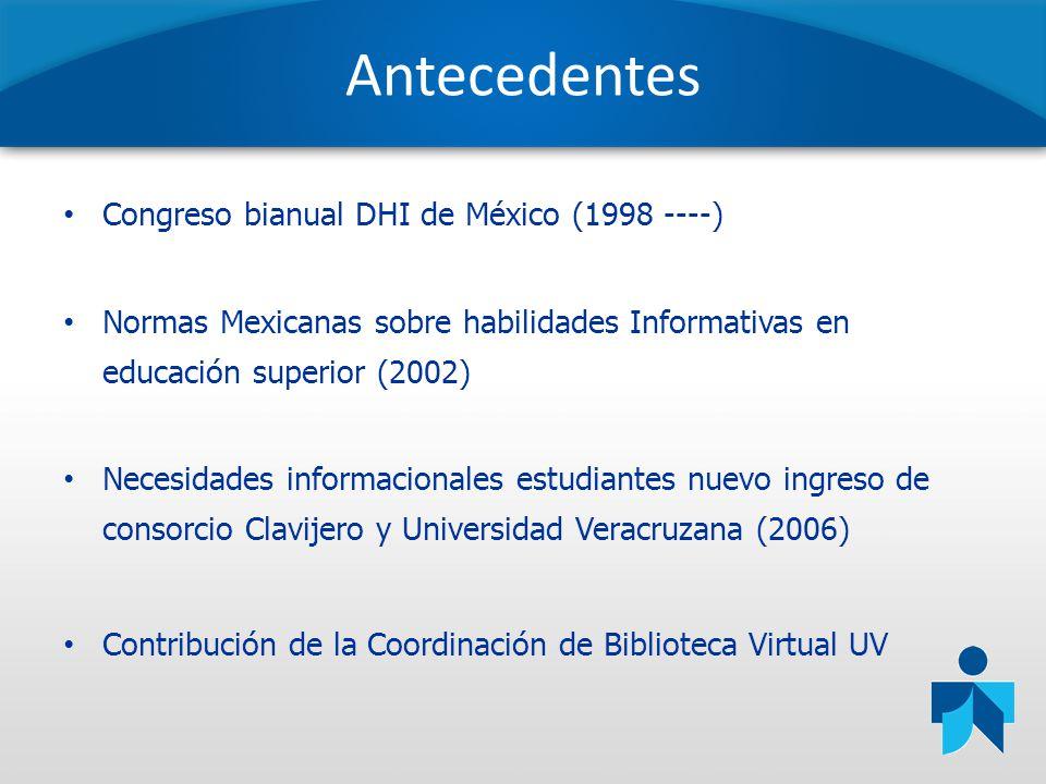 Antecedentes Congreso bianual DHI de México (1998 ----)