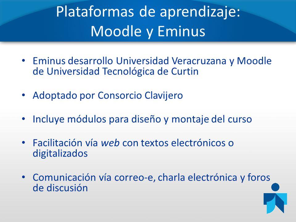 Plataformas de aprendizaje: Moodle y Eminus