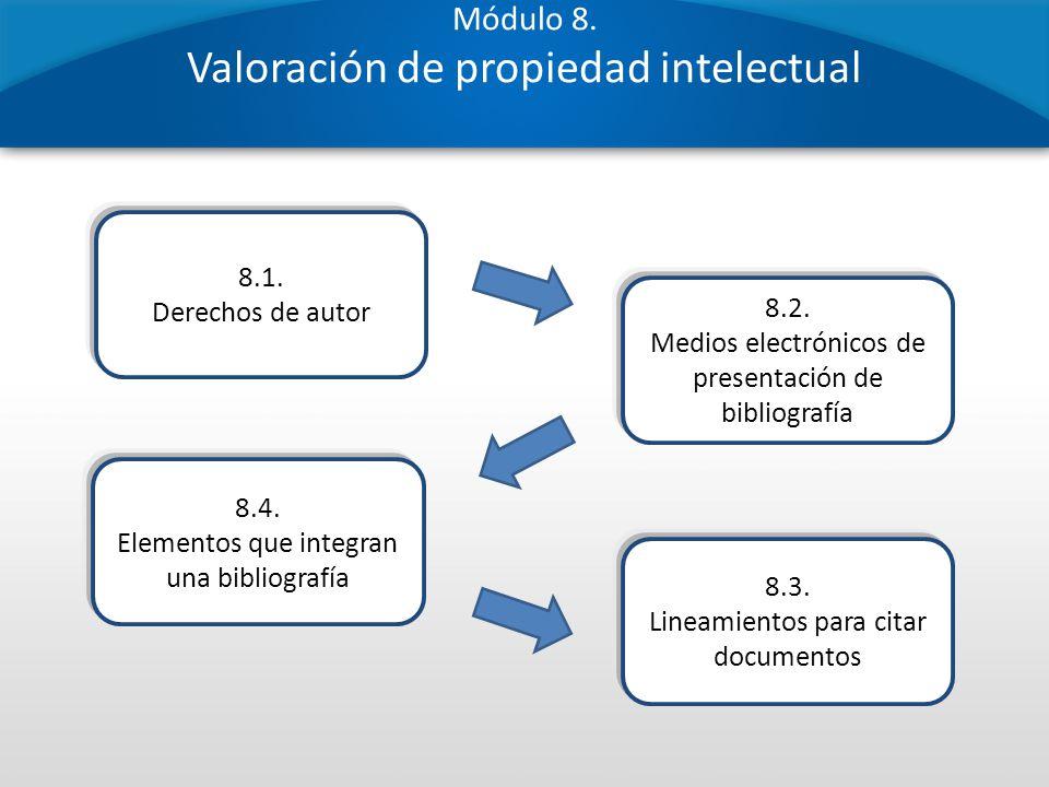 Módulo 8. Valoración de propiedad intelectual