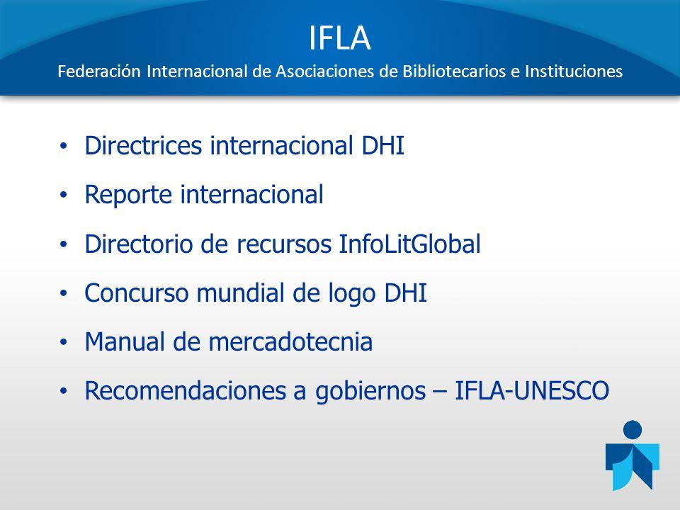 IFLA Federación Internacional de Asociaciones de Bibliotecarios e Instituciones