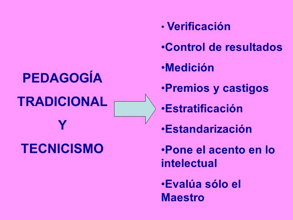 PEDAGOGÍA TRADICIONAL Y TECNICISMO
