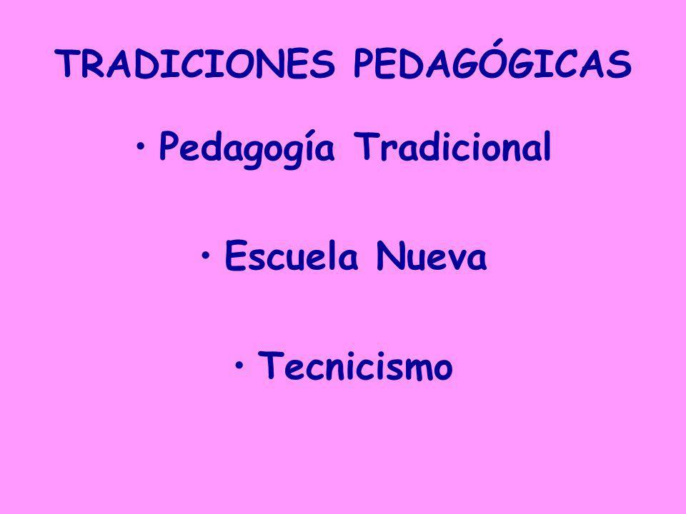TRADICIONES PEDAGÓGICAS