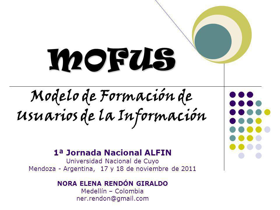 MOFUS Modelo de Formación de Usuarios de la Información