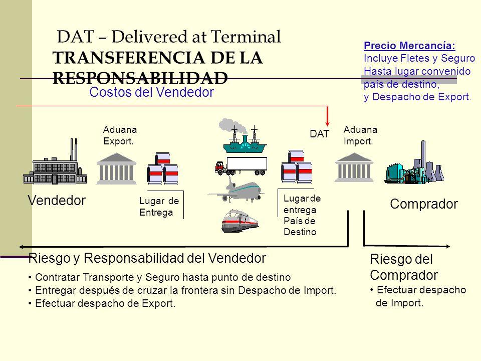 DAT – Delivered at Terminal TRANSFERENCIA DE LA RESPONSABILIDAD