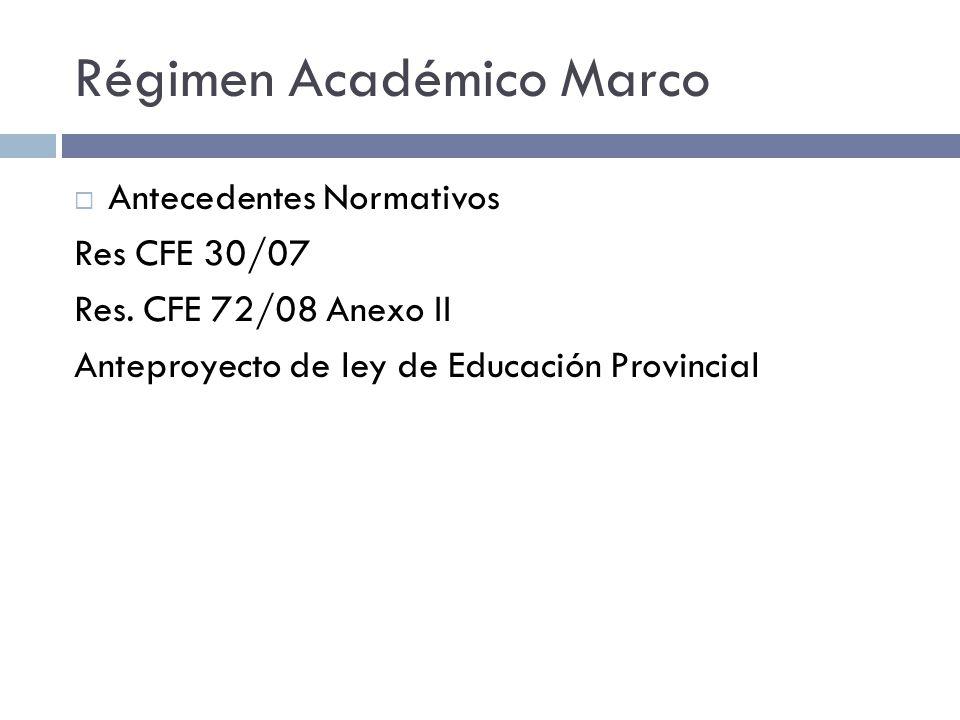 Régimen Académico Marco