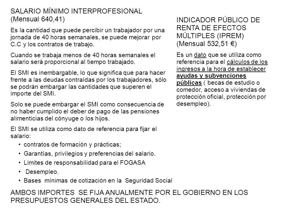 SALARIO MÍNIMO INTERPROFESIONAL (Mensual 640,41)