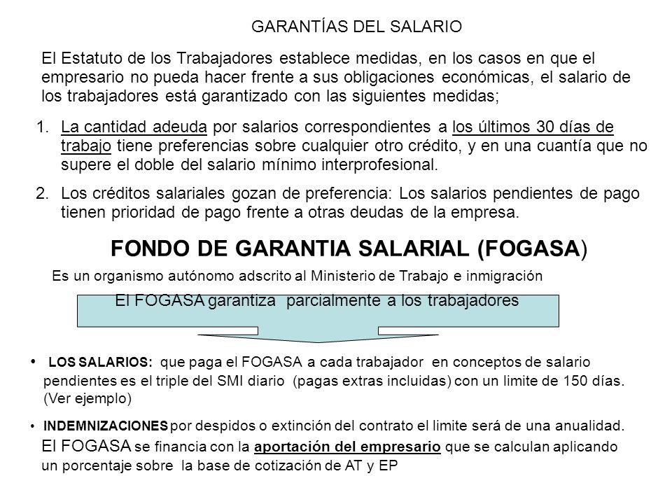 FONDO DE GARANTIA SALARIAL (FOGASA)