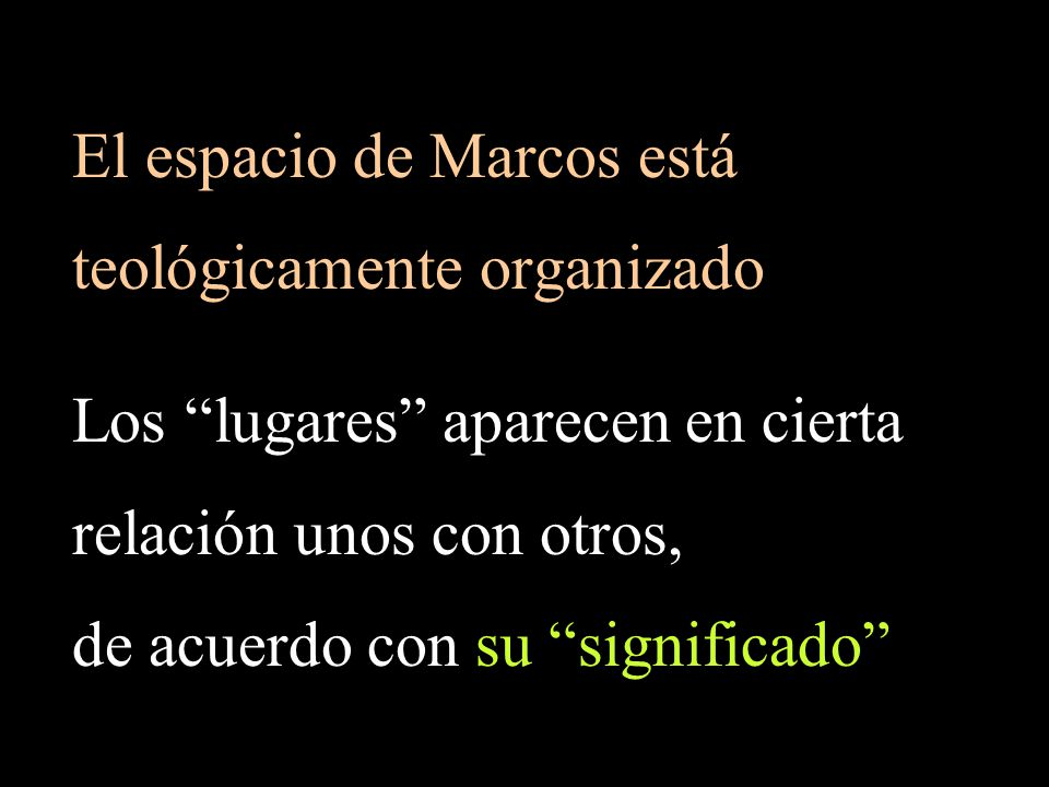 El espacio de Marcos está