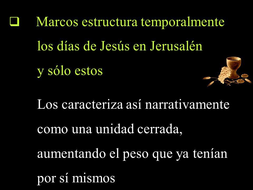 los días de Jesús en Jerusalén y sólo estos
