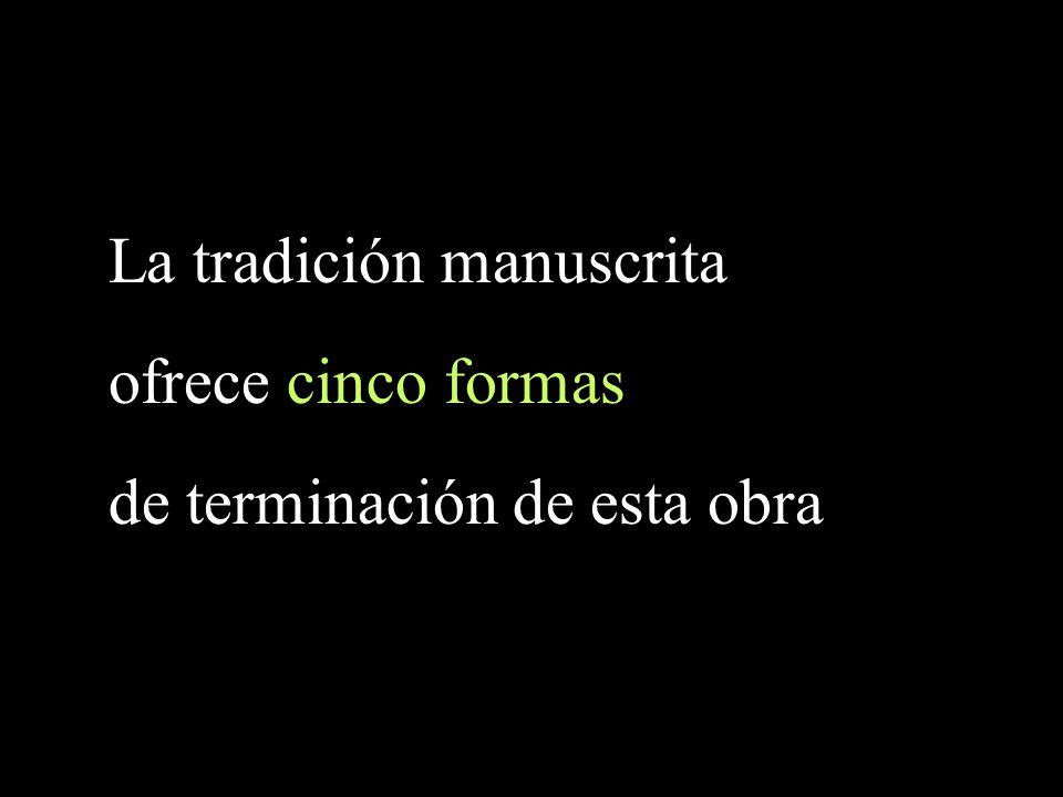 La tradición manuscrita