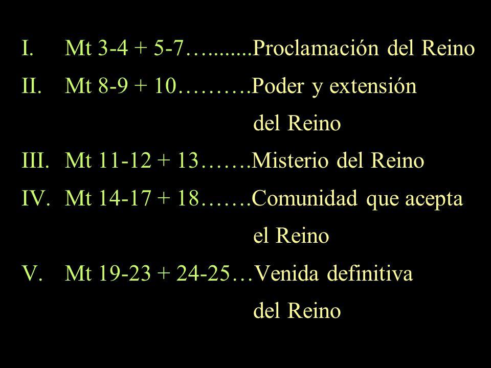 Mt 3-4 + 5-7…........Proclamación del Reino