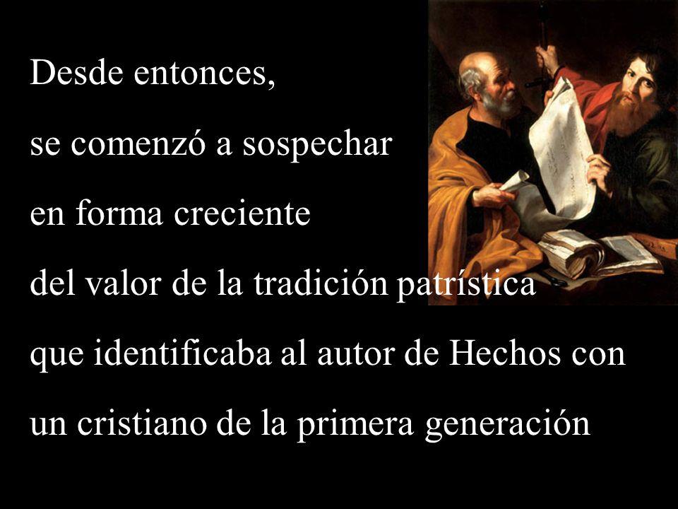 del valor de la tradición patrística