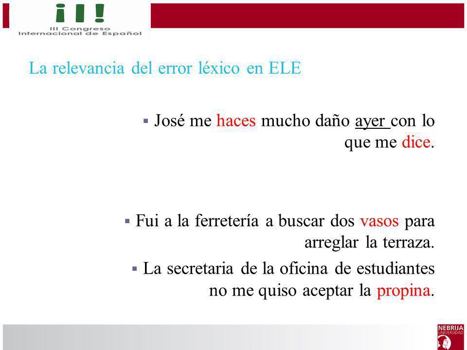 La relevancia del error léxico en ELE