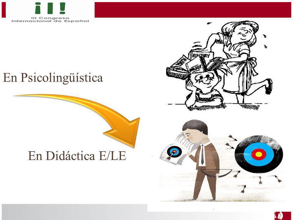 En Psicolingüística En Didáctica E/LE