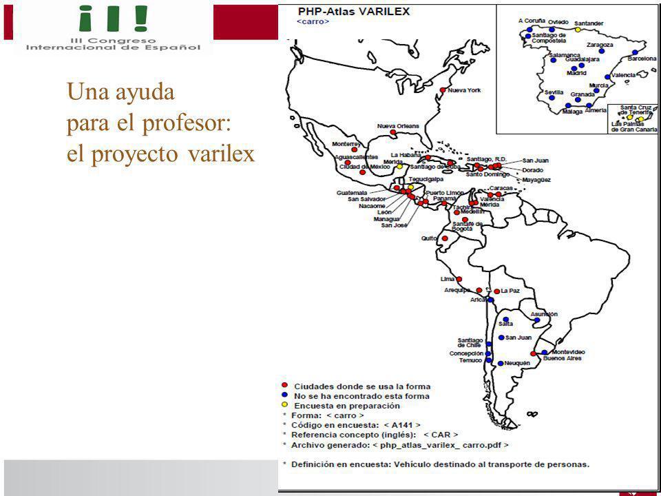 Una ayuda para el profesor: el proyecto varilex