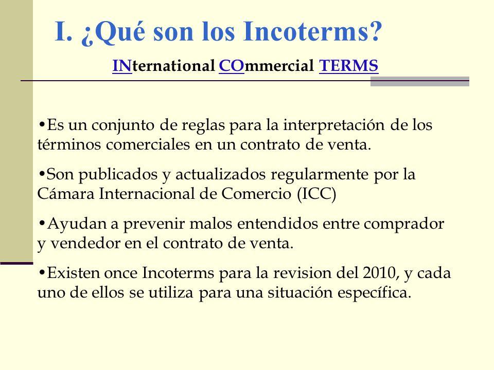I. ¿Qué son los Incoterms