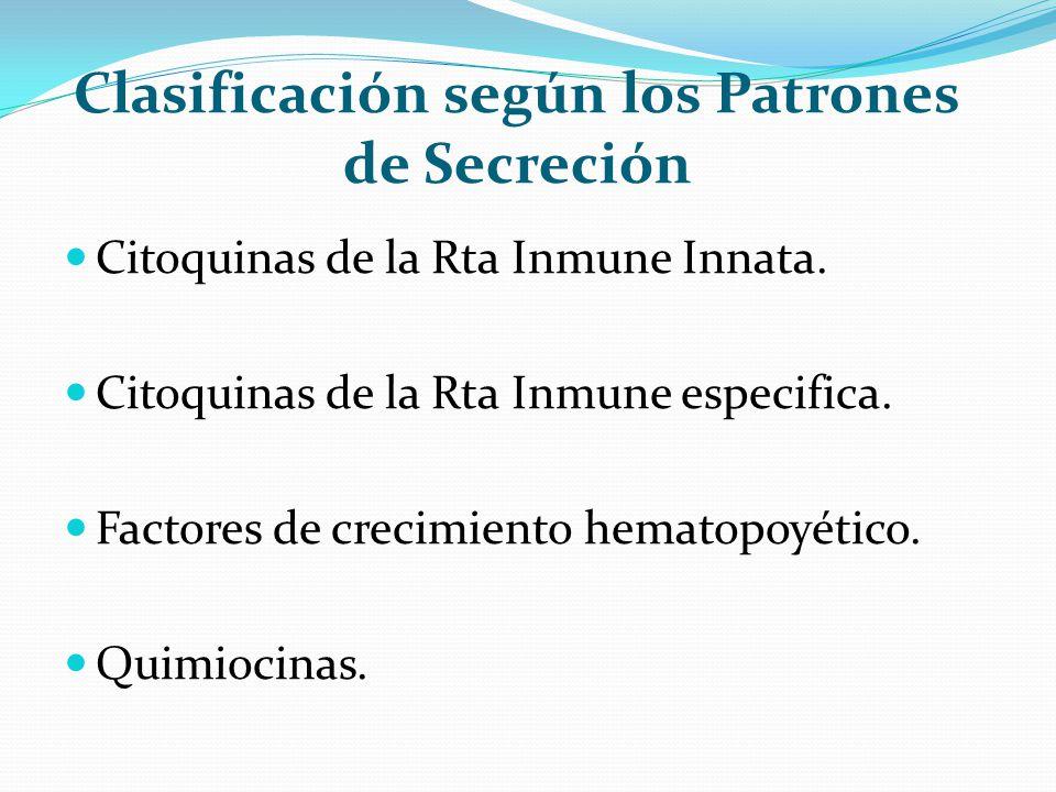 Clasificación según los Patrones de Secreción