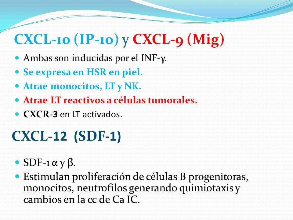 CXCL-10 (IP-10) y CXCL-9 (Mig)