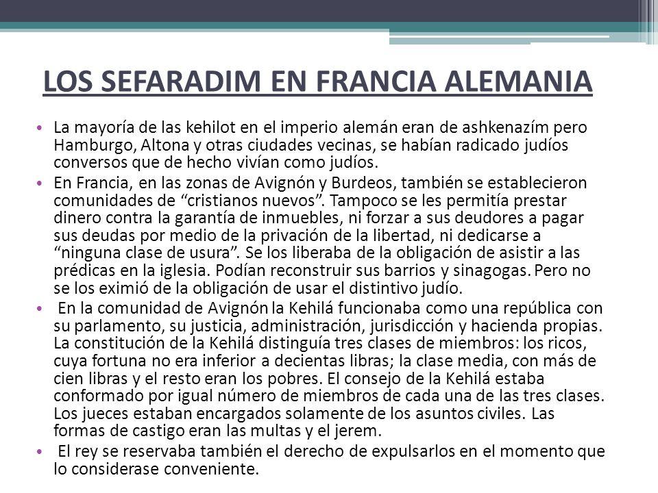 LOS SEFARADIM EN FRANCIA ALEMANIA