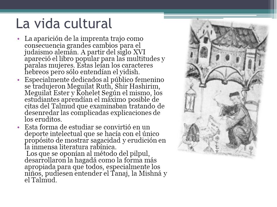 La vida cultural