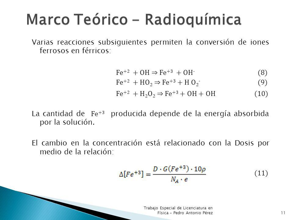 Marco Teórico - Radioquímica