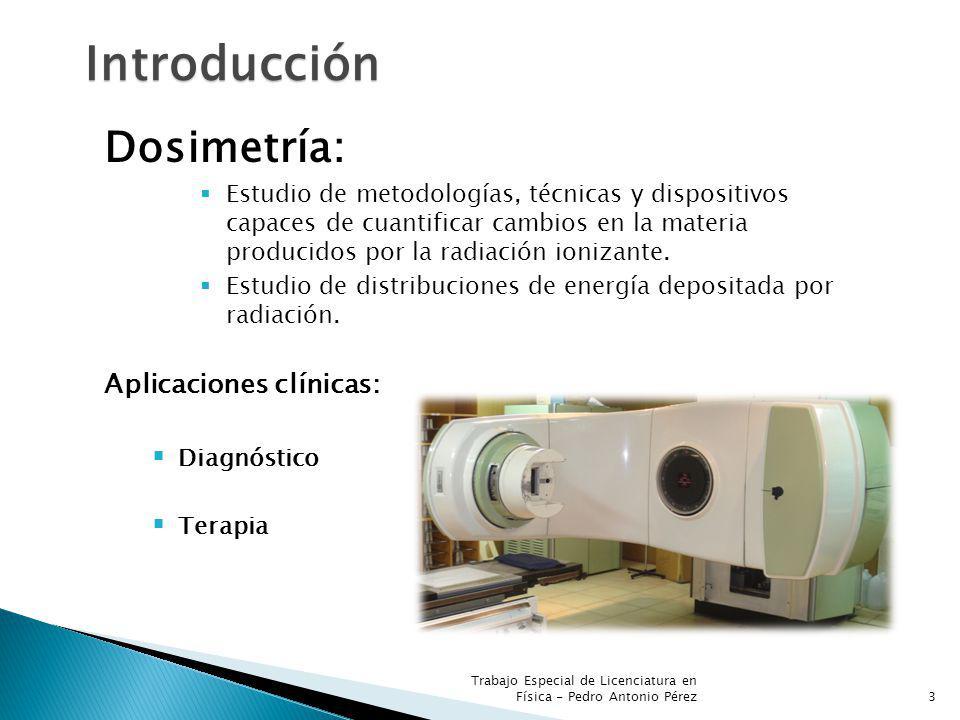 Introducción Dosimetría: Aplicaciones clínicas: