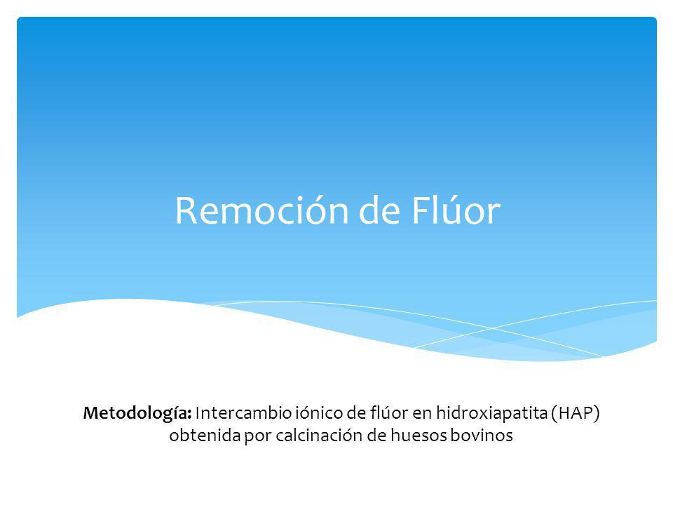 Remoción de Flúor