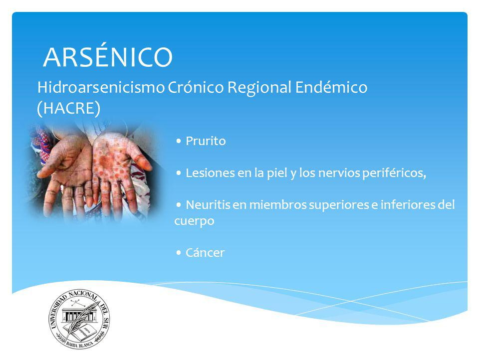 Hidroarsenicismo Crónico Regional Endémico (HACRE)