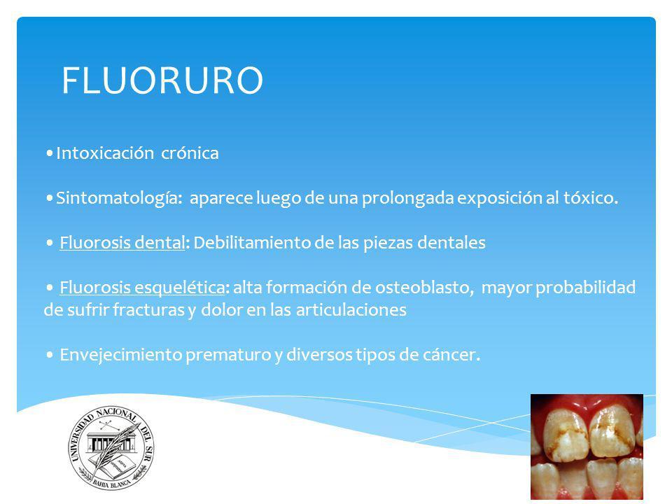 FLUORURO •Intoxicación crónica