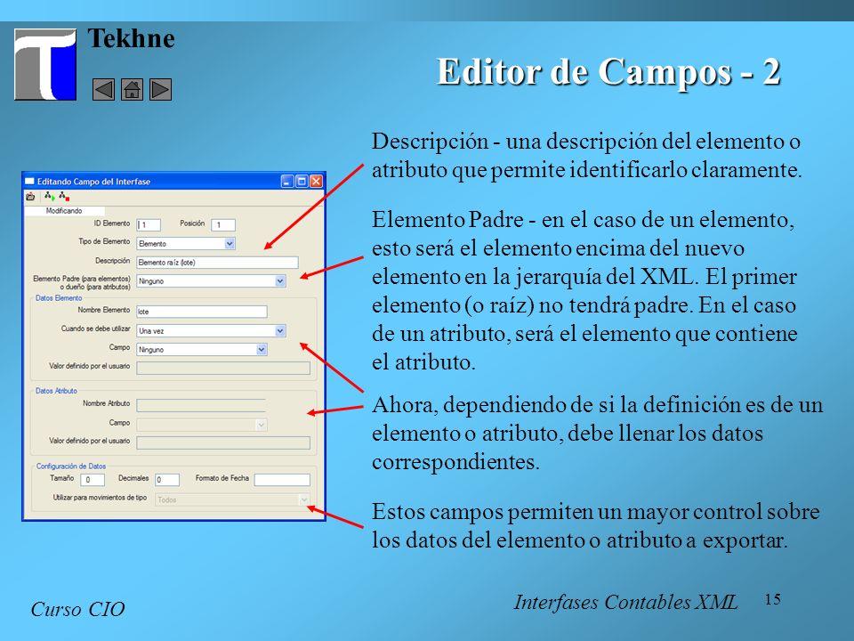 Editor de Campos - 2 Tekhne