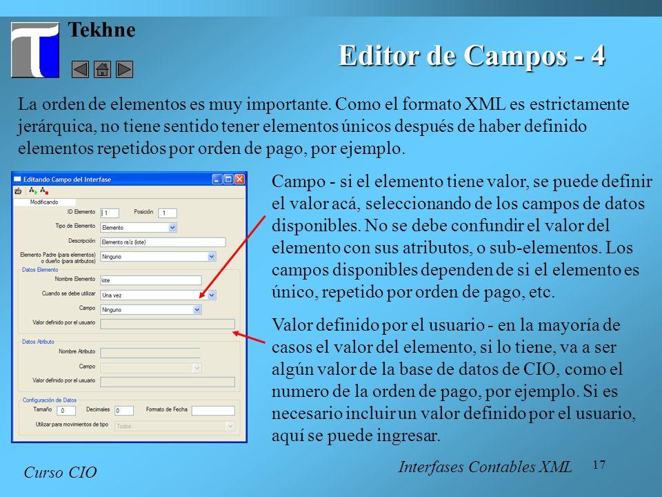 Editor de Campos - 4 Tekhne